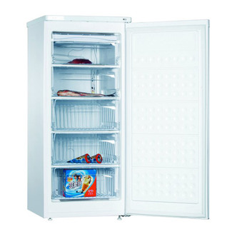 Compare retail prices of Amica FZ206 3 Tall Freezer in White 1 25m 55cmW 140L A Rated to get the best deal online
