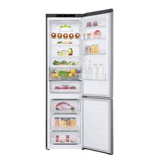 LG GBB62PZGFN Frost Free Fridge Freezer in Shiny Steel 2 03m D Rated