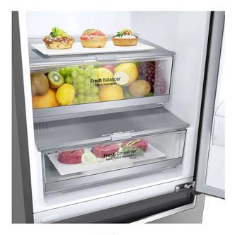LG GBB72PZEFN Frost Free Fridge Freezer in Shiny Steel 2 03m D Rated