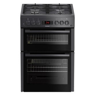 Image of Blomberg GGN65N 60cm Double Oven Gas Cooker in Anthracite