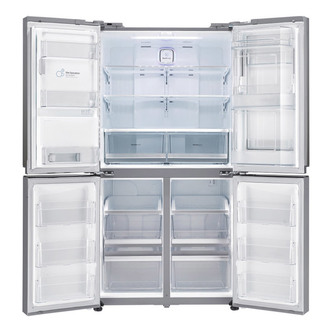 LG GMJ916NSHV 4 Door Fridge Freezer in Premium Steel Ice Water A