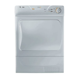 Candy GOC58FS 8kg Condenser Tumble Dryer in Silver Sensor