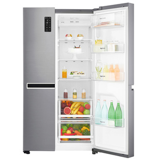 LG GSB760PZXV Side-by-side American Fridge Freezer Shiny Steel