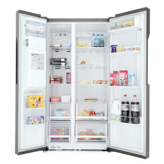LG GSL360ICEV American Fridge Freezer in Shiny Steel Ice Water A
