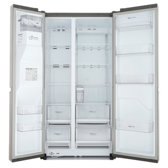 LG GSL761PZXV American Fridge Freezer in Shiny Steel Ice Water A