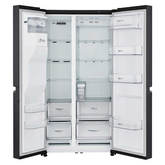 LG GSL761WBXV American Fridge Freezer in Black Ice Water A Rated