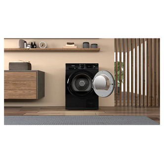 Hotpoint H3D91BUK 9kg Condenser Tumble Dryer in Black B Rated