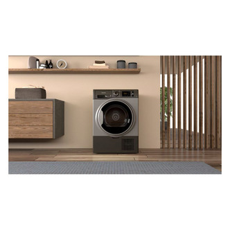 Hotpoint H3D91GSUK 9kg Condenser Tumble Dryer in Graphite B Rated