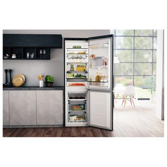 Hotpoint H7T911AKSHAQ Frost Free Fridge Freezer in Black Inox 2 0m W D