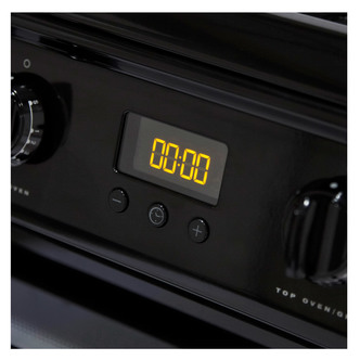 Image of Hotpoint HAG60K 60cm Gas Cooker in Black Double Oven FSD A Rated