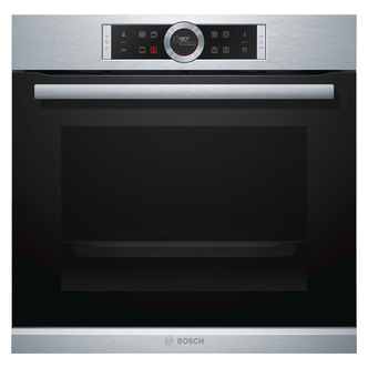 Image of Bosch HBG674BS1B Single Pyrolytic Multifunction Oven in Brushed Steel