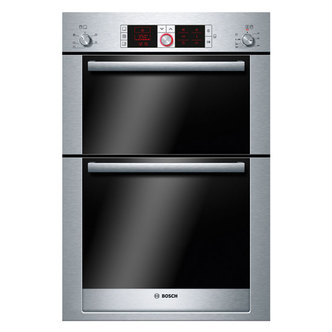 Bosch HBM56B551B LOGIXX Built In Double Multi function Oven in Br Stee