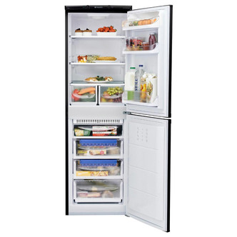 Hotpoint HBNF5517B Frost Free Fridge Freezer in Black 1 75m 55cmW A