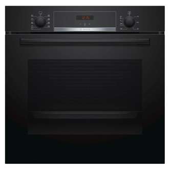 Image of Bosch HBS534BB0B Serie 4 Built In Single 3D Hot Air Oven in Black