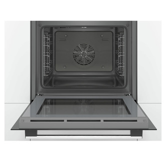 Image of Bosch HBS534BS0B Serie 4 Single EcoClean Multifunction Oven in Br Stee