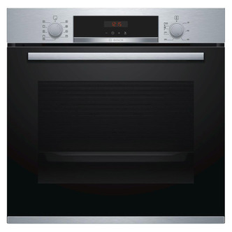 Image of Bosch HBS573BS0B Serie 4 Single Pyrolytic Multifunction Oven in Br Ste