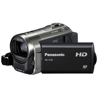 Panasonic Hc V10eb K Camcorder 720p Hd Record 63x Optical 2 7 Black