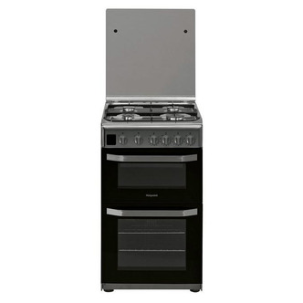 Image of Hotpoint HD5G00CCX 50cm Gas Cooker in St St Double Oven Catalytic Line