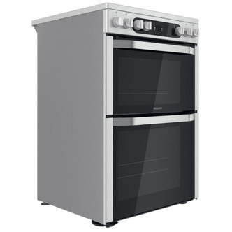 Hotpoint HDM67V9HCX 60cm Electric Cooker in St St Double Oven Ceramic