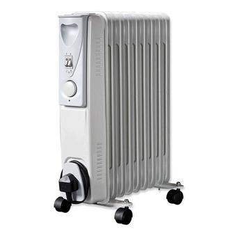 Daewoo HEA1141GE 2 0kW Oil Filled Radiator in White 3 Heat Settings