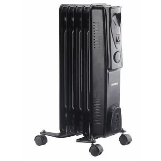 Daewoo Branded Floor Standing Oil Filled Radiator Heater, 1000W (Black)