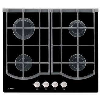Compare prices for AEG HG653430NB 60cm Built In 4 Burner Gas Hob in Black Glass