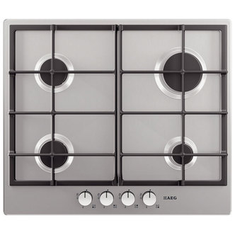 AEG HG654320NM 60cm Built In 4 Burner Gas Hob in St Steel