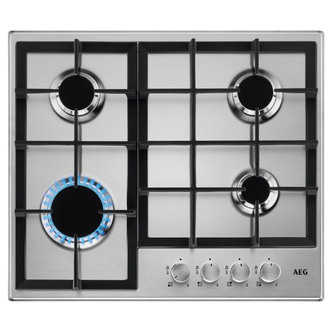 AEG HGB64200SM 60cm 4 Burner Slim Gas Hob in St Steel