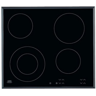 AEG HK624010FB 60cm 4 Zone Ceramic Radiant Hob in Black Glass