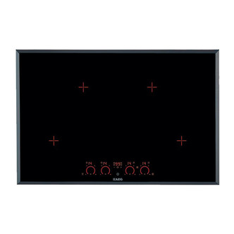 Image of AEG HK874400FB 80cm Built In Induction Hob in Black Glass
