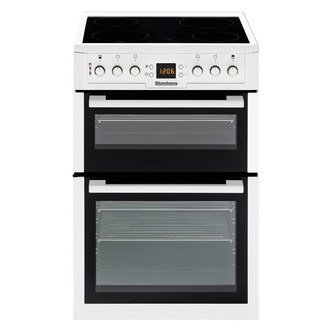 Blomberg HKN61W 60cm Electric Cooker in White Ceramic Hob Double Oven