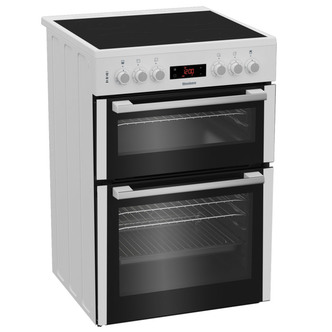 Image of Blomberg HKN65W 60cm Electric Cooker in White Ceramic Hob Double Oven