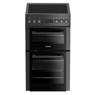 Image of Blomberg HKS900N 50cm Electric Cooker in Anthracite Cer Hob Double Ove