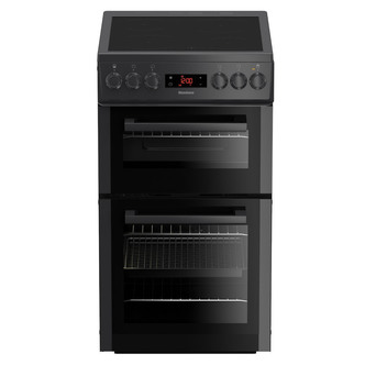 Image of Blomberg HKS951N 50cm Electric Cooker in Anthracite Cer Hob Double Ove