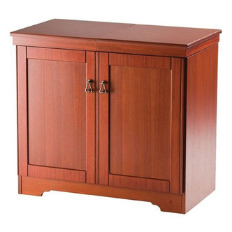 Hostess HL6241MH Gourmet Hostess Trolley in Mahogany Real Wood Veneer