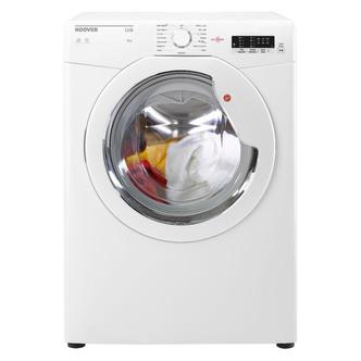 Image of Hoover HLV8LG 8Kg Vented Tumble Dryer in White Sensor C Energy