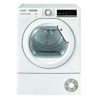Image of Hoover HLXC8DG 8kg Condenser Tumble Dryer in White Sensor B Energy