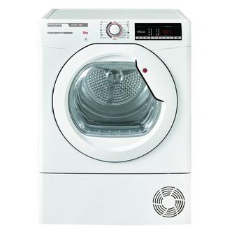 Hoover HLXC8DG 8kg Condenser Tumble Dryer in White Sensor B Energy