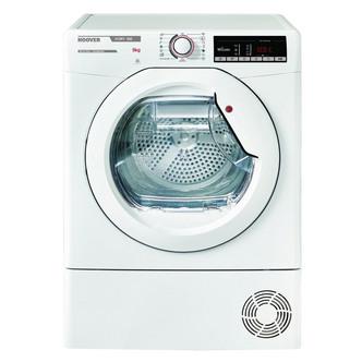Hoover HLXC9TE 9kg Condenser Tumble Dryer in White Sensor B Energy