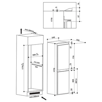 Hotpoint HMCB50501AA Fridge Freezer - White