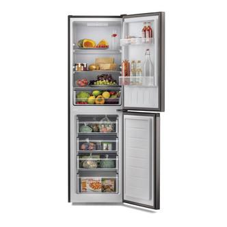 Hoover HMCL5172BIN 55cm Low Frost Fridge Freezer in Black 1 76m F Rate