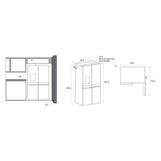 Hotpoint HQ9IMO1L American 4 Door Frost Free Fridge Freezer Inox I W P