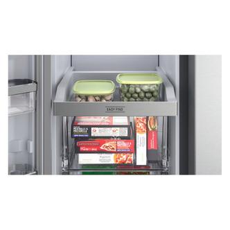 Hotpoint HQ9M2L American 4 Door Frost Free Fridge Freezer in Inox Look