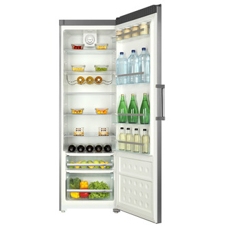 Haier HR 385FSAA 60cm 1 86m Tall Larder Fridge in Silver A