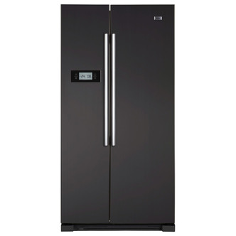 Haier HRF628DN6 American Style Fridge Freezer in Matt Black 1 78m A