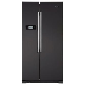 Haier HRF628DN6 American Style Fridge Freezer in Matt Black 1 78m A