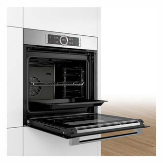 Image of Bosch HRG635BS1B Serie 8 Single Oven in Brushed Steel Added Steam A