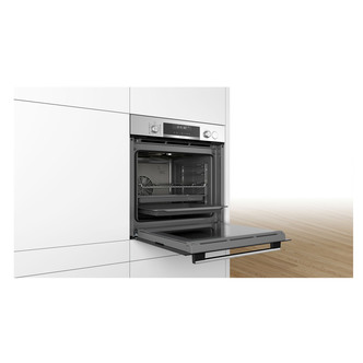 Image of Bosch HRS538BS6B Serie 6 Built In Single Multifunction Oven in St Stee