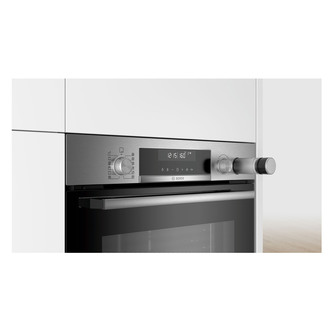 Image of Bosch HRS578BS6B Serie 6 Built In Single Multifunction Oven in St Stee