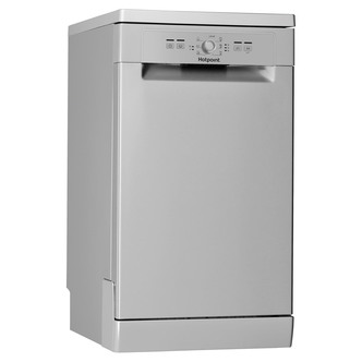 Hotpoint HSFE1B19S 45cm Slimline Dishwasher in Silver 10 Place Setting